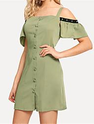 baratos -cotidiano das mulheres acima do joelho vestido de cintura alta cinta de algodão luz verde s m l xl
