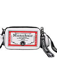 cheap -Women's Bags PU(Polyurethane) Shoulder Bag Letter Black / Silver / Red
