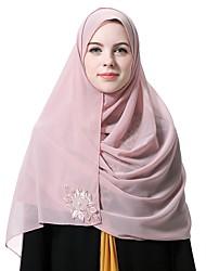 Недорогие -Жен. Винтаж / Классический Хиджаб - Кружева Однотонный