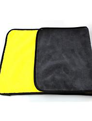 Недорогие -двойная цветная микрофибра мойка полотенец чистка сушка уход ткань подшивка сильный абсорбент