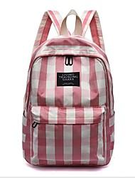povoljno -Žene Torbe Najlon Školska torba Patent-zatvarač Crn / Blushing Pink / Bijela