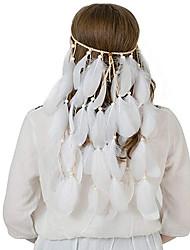 저렴한 -집시 아메리카 인디언의 헤드 피스 삼바 머리 장식 보헤미안 에스닉 남성용 여성용 어른' 제품 파티 Halloween 제전 나무 깃털 위티 티 깃털 헤드 웨어