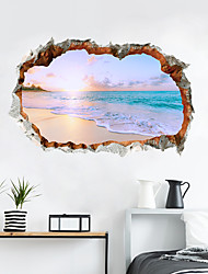 cheap -Decorative Wall Stickers - 3D Wall Stickers Landscape / 3D Living Room / Bedroom / Kitchen