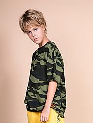 billige -Barn Gutt Grunnleggende Trykt mønster Kortermet Bomull T-skjorte Grønn