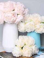voordelige -Kunstbloemen 5 Tak Klassiek Bruidsboeketten Pastoraal Stijl Pioenen Bloemen voor op tafel