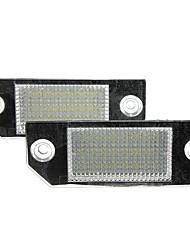 Недорогие -Лампы освещения номерного знака 2x 24leds для Ford Focus C-Max 03-07