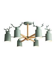 Недорогие -6-Light Спутник Люстры и лампы Потолочный светильник Окрашенные отделки Сплав цинка Металл Новый дизайн 110-120Вольт / 220-240Вольт