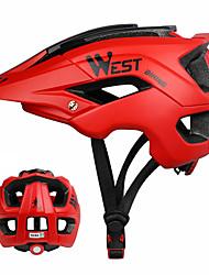 Недорогие -WEST BIKING® Взрослые Мотоциклетный шлем 13 Вентиляционные клапаны прибыль на акцию, ПК Виды спорта На открытом воздухе / Велосипедный спорт / Велоспорт - Синий / Red and White / Синий и черный