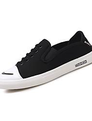 baratos -Homens Sapatos Confortáveis Lona Outono Tênis Preto / Cinzento / Vermelho