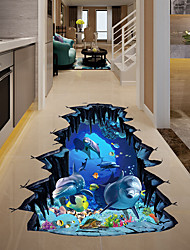 cheap -Decorative Wall Stickers - 3D Wall Stickers / Animal Wall Stickers Landscape / Animals Living Room / Bedroom / Kitchen