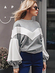 billige -Dame Basale Sweatshirt - Farveblok