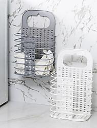 Недорогие -Корзина для белья пластик Обычные Аксессуар 1 тубус для хранения Сумки для хранения домашних хозяйств