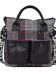 preiswerte -Damen Taschen PU Tragetasche Reißverschluss Geometrische Muster Blau / Braun / Khaki