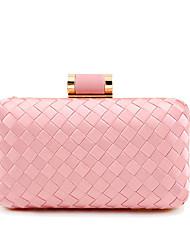 preiswerte -Damen Taschen Stroh / Aleación Abendtasche Volltonfarbe Silber / Rote / Rosa