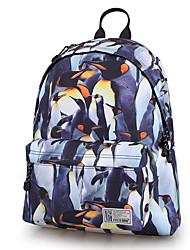 저렴한 -남여 공용 가방 폴리 우레탄 배낭 패턴 / 프린트 용 일상 봄 푸른