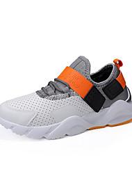 Χαμηλού Κόστους -Ανδρικά Παπούτσια άνεσης PU Άνοιξη & Χειμώνας Καθημερινό Αθλητικά Παπούτσια Περπάτημα Λευκό / Μαύρο / Γκρίζο