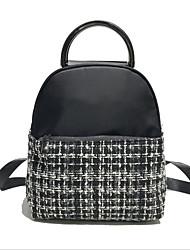 저렴한 -여성용 가방 우레탄 배낭 지퍼 용 일상 봄 화이트 / 블랙 / 루비