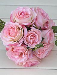 Недорогие -Искусственные Цветы 10 Филиал Классический Свадебные цветы Пастораль Стиль Розы Букеты на стол