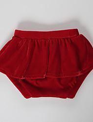 abordables -bébé Fille Actif / Basique Quotidien / Sortie Couleur Pleine Coton / Spandex Short Vert