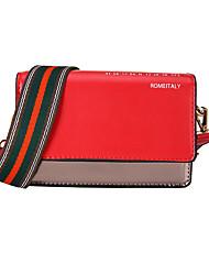 cheap -Women's Bags PU(Polyurethane) Shoulder Bag Striped Red / Pink / Yellow