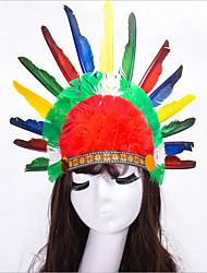 povoljno -Etnička i vjerska Vintage Kostim Žene Glava Šeširi Duga Vintage Cosplay Perje Karneval Maškare