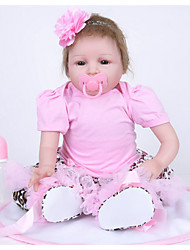Χαμηλού Κόστους -FeelWind Κούκλες σαν αληθινές Κορίτσι κορίτσι Βελούδινη κούκλα Μωρά Κορίτσια 22 inch Σιλικόνη Βινύλιο - όμοιος με ζωντανό Χειροποίητο Χαριτωμένο Παιδικό / Εφηβικό Μη τοξικά Παιδικά Γιούνισεξ Παιχνίδια