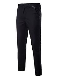 זול -מכנסי ג 'ינס של גברים - בצבע אדום מוצק