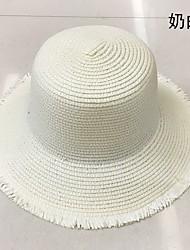 Недорогие -/ Головные уборы / Соломенные шляпы с Однотонные 1 шт. На каждый день Заставка