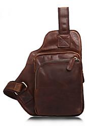 Недорогие -мужская сумка наппа кожаная сумка на молнии коричневого цвета