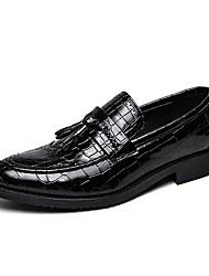 halpa -Miesten Comfort-kengät Mikrokuitu 봄 & Syksy Oxford-kengät Musta / Ruskea
