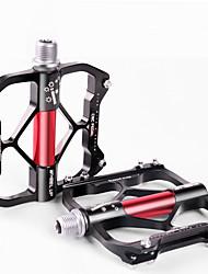 Недорогие -Wheel up Педали Плоские педали и платформы Пригодно для носки Анти-скольжение Прочный Алюминиевый сплав для Велоспорт Шоссейный велосипед Горный велосипед Велосипедный мотокросс Черный / красный