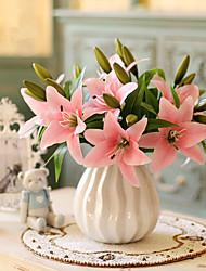 Недорогие -Искусственные Цветы 5 Филиал Классический европейский Пастораль Стиль Лилии Букеты на стол