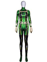 preiswerte -Zentai Anzüge Cosplay Kinder Cosplay Kostüme Halloween Grün Print Elastan Lycra® Mädchen Halloween Karneval Maskerade