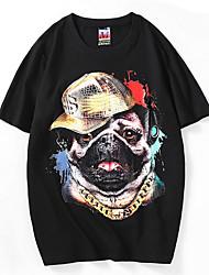 お買い得  -メンズTシャツ - グラフィックラウンドネック