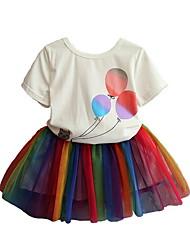 זול -סט של בגדים שרוולים קצרים אנימציה בנות ילדים