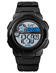cheap -SKMEI Men's Digital Watch Digital Silicone Black / Green 50 m Water Resistant / Waterproof Calendar / date / day Stopwatch Digital Outdoor New Arrival - Green Blue Rose Gold