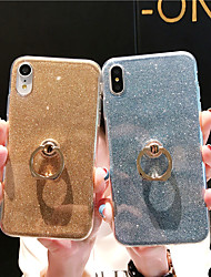 cheap -Case For Apple iPhone XR / iPhone XS Max Shockproof / Ring Holder / Ultra-thin Back Cover Glitter Shine Soft TPU for iPhone XS / iPhone XR / iPhone XS Max
