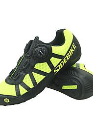 abordables -SIDEBIKE Adulte Chaussures Vélo / Chaussures de Cyclisme Respirable Antidérapant Vélo tout terrain / VTT Cyclisme sur Route Cyclisme / Vélo Jaune Homme Femme Chaussures Vélo / Chaussures de Cyclisme