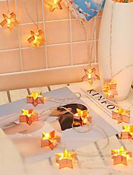 abordables -3m 20leds fer art pentagram lumières lumières chaîne personnalité créative lumières décoratives or rose lumières nordiques flash noël