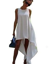Недорогие -Жен. Классический С летящей юбкой Платье - Однотонный Макси