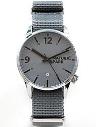 cheap -Men's Wrap Bracelet Watch Japanese Japanese Quartz Nylon Grey 30 m Water Resistant / Waterproof Cute Casual Watch Analog Casual Fashion - Gray Two Years Battery Life