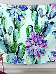 Недорогие -Цветы Декор стены 100% полиэстер Modern Предметы искусства, Стена Гобелены Украшение