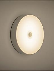 Недорогие -1 шт. Светодиодный свет ночи белый теплый белый usb датчик человеческого тела украшения кухонный шкаф 5 В