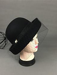 ราคาถูก -ขนสัตว์ หมวก กับ Cravat / ขอบ 1 ชิ้น สวมใส่ทุกวัน หูฟัง