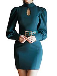 رخيصةأون -المرأة فوق الركبة اللباس BODYCON الوقوف الأخضر ق م ل xl