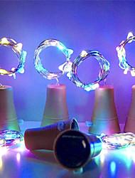 Недорогие -2м Гирлянды 20 светодиоды SMD 0603 Тёплый белый / Белый / Разные цвета Водонепроницаемый / Работает от солнечной энергии / Декоративная Солнечная энергия 6шт