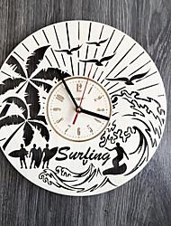 Недорогие -прибой настенные часы дерево гора пляж дом кухня украшение гостиная подарок