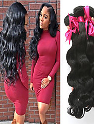 cheap -3 Bundles Malaysian Hair Body Wave 100% Remy Hair Weave Bundles Gifts Natural Color Hair Weaves / Hair Bulk Tea Party Favors 8-28 inch Natural Color Human Hair Weaves Odor Free Extender Silky Human