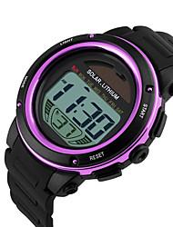 cheap -SKMEI Men's Digital Watch Digital Silicone Black 50 m Water Resistant / Waterproof Calendar / date / day Stopwatch Digital Casual Colorful - Gold Purple Blue