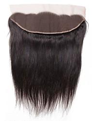 tanie -1 Pakiet Włosy brazylijskie Prosta Włosy virgin Akcesoria do peruk Taśma włosów z zamknięciem 8-20 in Kolor naturalny Ludzkie włosy wyplata Koronka Klasyczny Nowości Ludzkich włosów rozszerzeniach